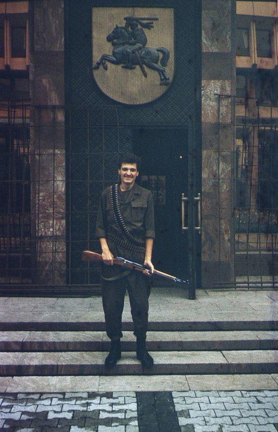 Asmeninio archyvo nuotr./Rolandas Tučas 1991 m. rugpjūčio pučo metu