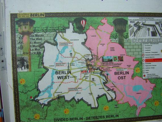 V.Mikaičio nuotr./Vakarų ir Rytų Berlynai