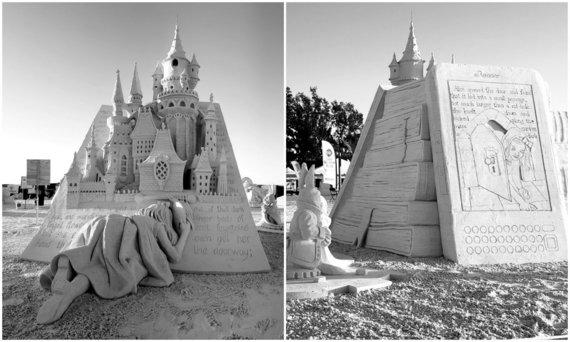 """A.Petkaus asmen. archyvo nuotr./Andriaus Petkaus skulptūra """"Alisa pro laiko angą"""""""