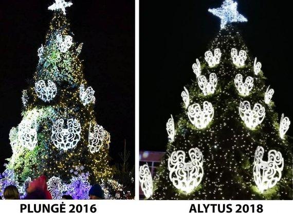 alytausgidas.lt nuotr./Plungės ir Alytaus Kalėdų eglės