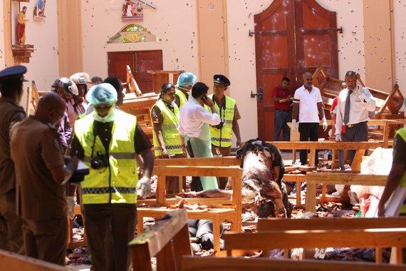 """AFP/""""Scanpix"""" nuotr./Šri Lankos bažnyčiose ir viešbučiuose nugriaudėjo sprogimai"""
