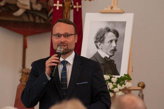Agnės Vilbikaitės nuotr./Mindaugas Kvietkauskas dalyvavo M.K.Čiurlionio pagerbimo renginyje