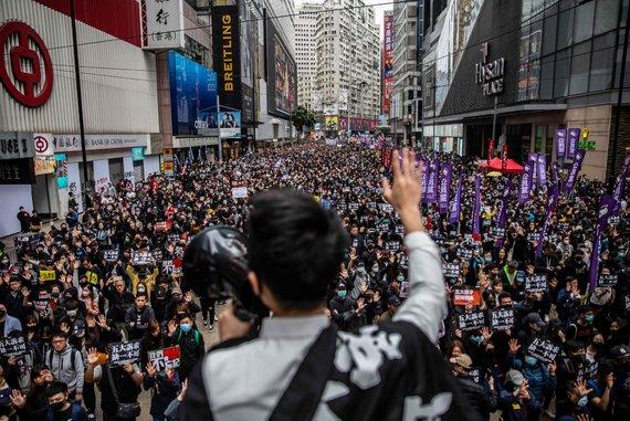 """""""Scanpix"""" nuotr./Demonstracijos Honkonge"""