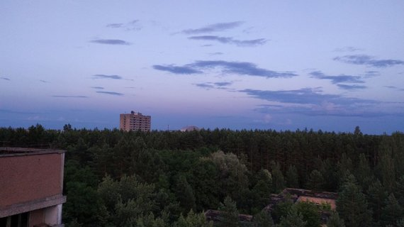 Vaido Mikaičio nuotr./Vaizdas nuo namo stogo