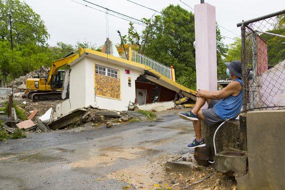 """""""Scanpix"""" nuotr./Puerto Rikas po audros Isaias"""
