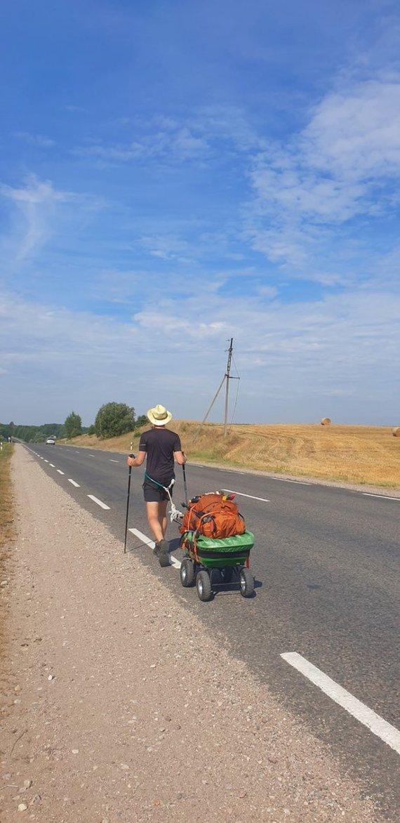 """Asmeninio archyvo nuotr./Žygis """"Camino Lituano"""" keliu"""