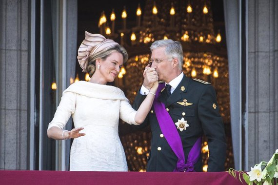 """""""Scanpix"""" nuotr./Belgijos karalius Philippe'as su žmona Mathilde"""