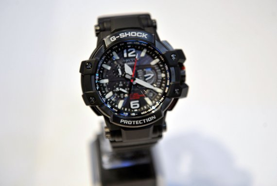 """Gamintojų nuotr./Casio """"G-Shock GPS"""" laikrodis, dar šiemet pristatytas tarptautinėje technologijos parodoje Las Vegase."""