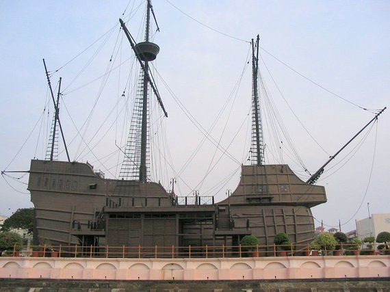 """wikimedia.org nuotr./Portugalų laivo """"Jūrų gėlė"""" (port. """"Flor do Mar"""") kopija"""