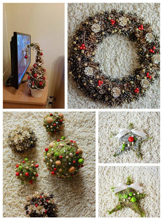 Ji24.lt skaitytojos nuotr./Sandros L. (Kaišiadorių raj.) kalėdinė dekoracija