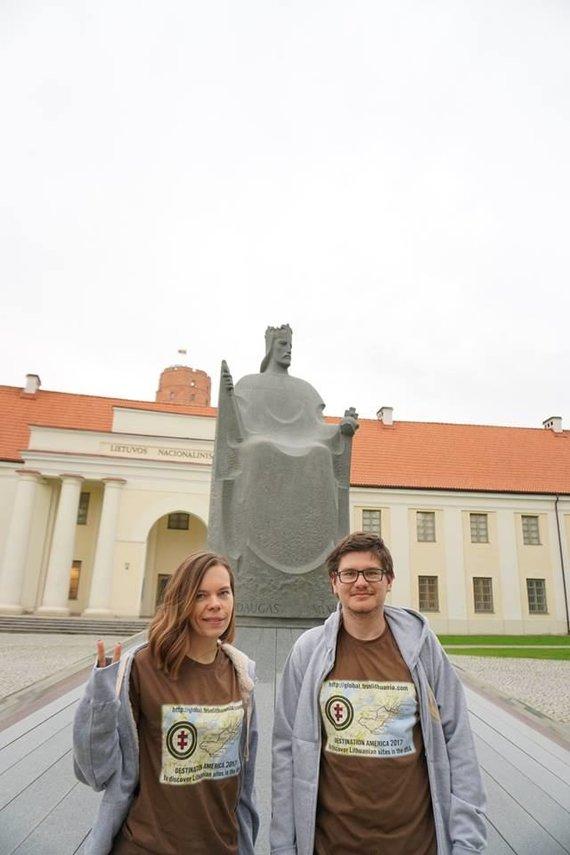 Asmeninio archyvo nuotr./Žemėlapio kūrėjai Aistė ir Augustinas Žemaičiai