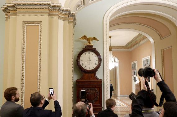 """""""Scanpix"""" nuotr./JAV vyriausybė praėjus vidurnakčio terminui – uždaryta"""