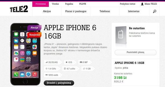 iPhone 6 Tele2