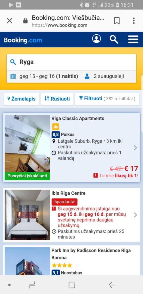 Apartamentai Rygoje