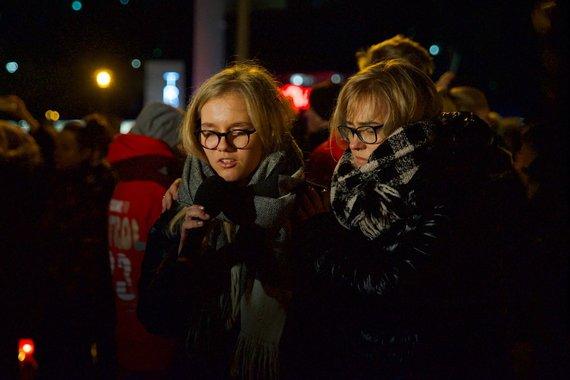 gdanskas.pl nuotr./Pawelo Adamowicziaus žmona Magdas (d.) ir dukra Antonina