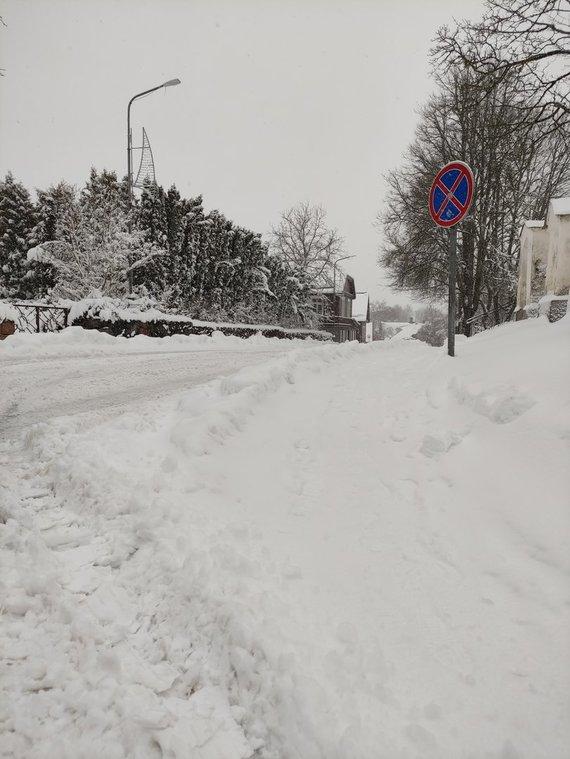 Ryčio Mežonio nuotr./Snieguotos Trakų gatvės