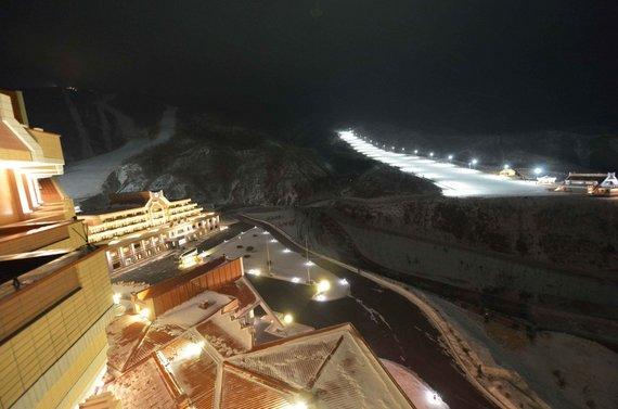 Naujajame Šiaurės Korėjos slidinėjimo kurorte