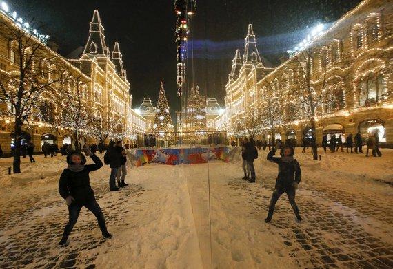 """""""Reuters""""/""""Scanpix"""" nuotr./Šventiškai išpuošta Maskva"""