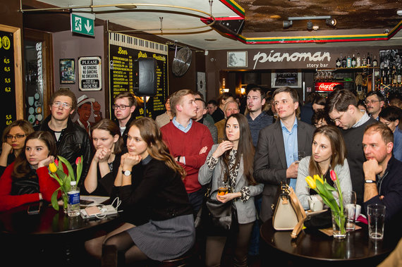 zw.lt nuotr./Vasario 16-osios minėjimas Lenkų diskusijų klube 2017 m.