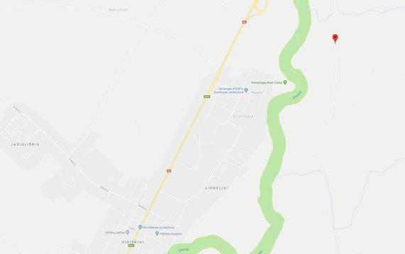 15min nuotr./Žemėlapis, kur rastos šiukšlės Ukmergės rajono miškuose