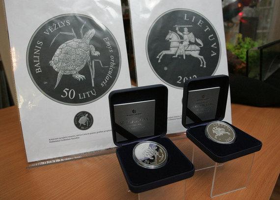 Eriko Ovčarenko / 15min nuotr./Proginės monetos pristatymas