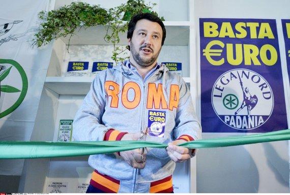 """""""Scanpix"""" nuotr./Šiaurės lygos sekretorius Matteo Salvini"""