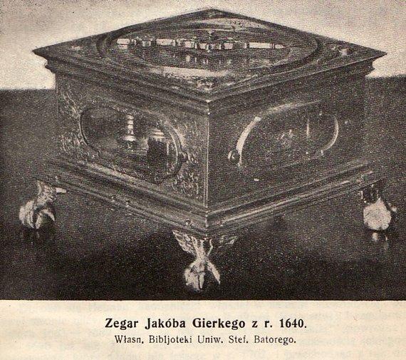 Jokūbo Gierkės gamintas laikrodis