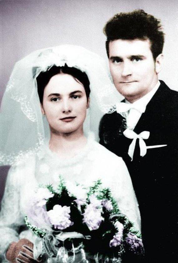 Danutos ir Lecho Walęsų vestuvių nuotrauka