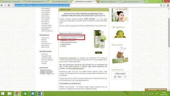 Skaitytojos Lauros nuotr./Informacija apie produktą