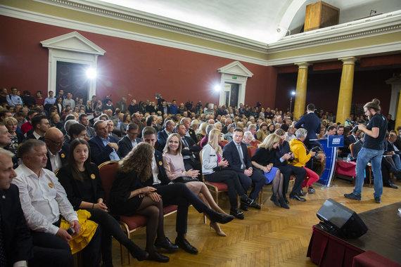 Luko Balandžio / 15min nuotr./Vygaudo Ušacko ir Ingridos Šimonytės prezidento rinkimų debatai