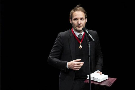 """Luko Balandžio / 15min nuotr./""""Auksinių scenos kryžių"""" teikimo ceremonija"""