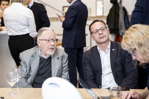 Luko Balandžio / 15min nuotr./Vytautas Landsbergis, Žygimantas Pavilionis