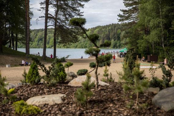 Luko Balandžio / 15min nuotr./Atnaujintas Žaliųjų ežerų paplūdimys