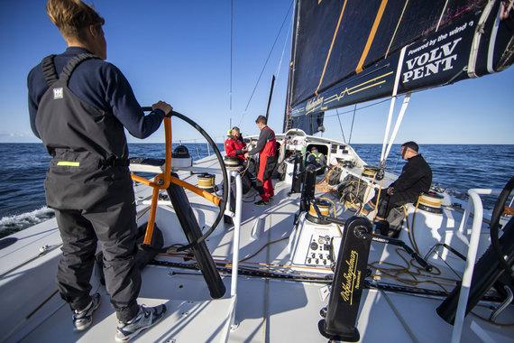 """Luko Balandžio / 15min nuotr./""""Ambersail 2"""" kelionė per Baltiją į regatą aplink Gotlando salą """"AF Offshore Race"""""""