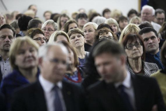 Luko Balandžio / 15min nuotr./Mokytojų suvažiavimas Vilniuje: tariamasi dėl galimo streiko
