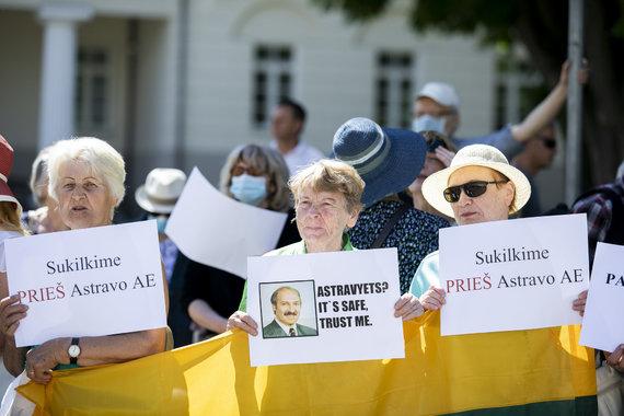 Luko Balandžio / 15min nuotr./Mitingas prieš Astravo atominę elektrinę