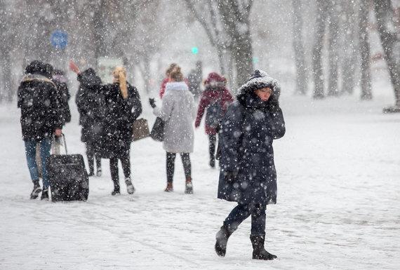 Luko Balandžio / 15min nuotr./Sniego pūga Vilniuje