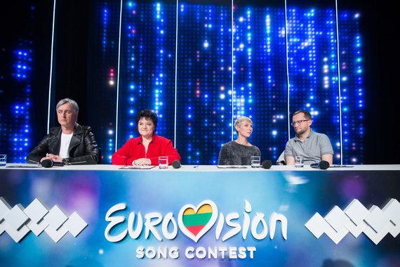 """Luko Balandžio / 15min nuotr./ """"Eurovizijos"""" pusfinalio akimirka"""