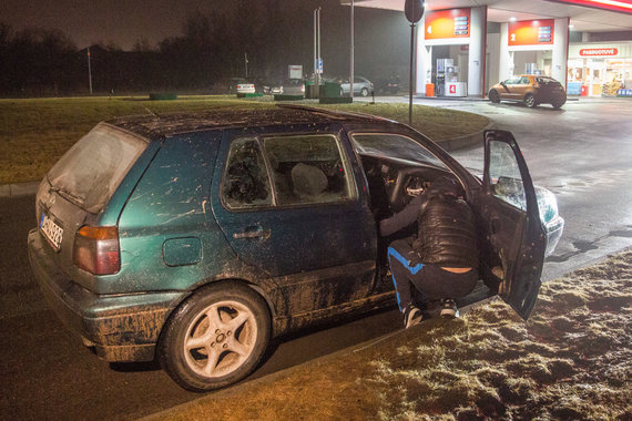 "Luko Balandžio / 15min nuotr./Girto jaunuolio (2,59 prom.) ""Volkswagen Golf"" Liepkalnio gatvėje"