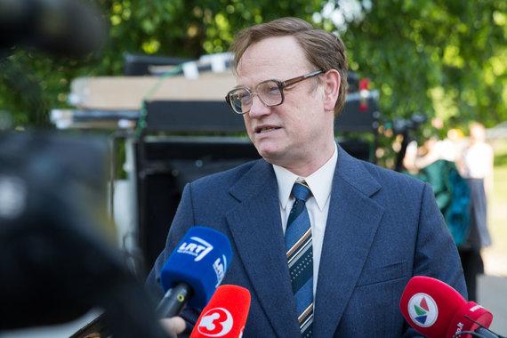 Luko Balandžio / 15min nuotr./Valerijų Legasovą vaidinęs aktorius