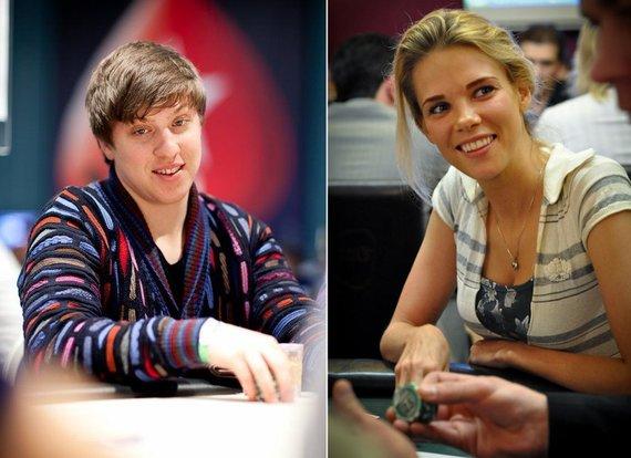 Pokerstarsblog.com ir 15min.lt nuotr./Kristijonas Andrulis ir Aistė Paškevičiūtė