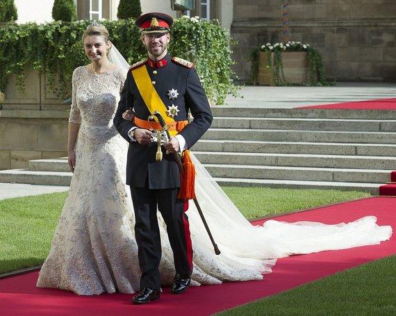 """""""Scanpix"""" nuotr./Didysis kunigaikštis Guillaume'as ir kunigaikštienė Stephanie"""