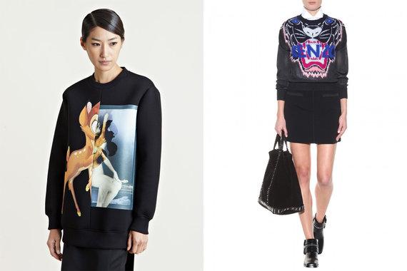 Iš kairės: Givenchy džemperis iš ln-cc.com, Kenzo megztinis iš mytheresacom.