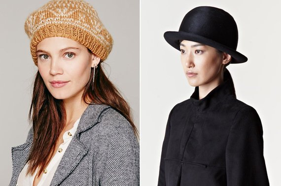 freepeople.com ir ln-cc.com nuotr. /Kairėje: modelis su berete; dešinėje: Ann Demeulemeester skrybėlaitė.