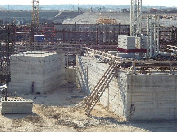 Eglės Digrytės nuotr./Baltijos atominės elektrinės statyba