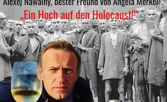 Photo  from eadaily.com/ Alleged Alexei Navaln Toast for the Holocaust
