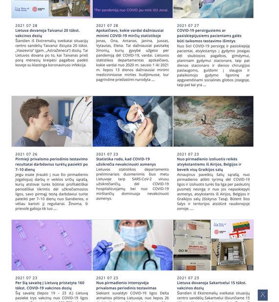 Ekrano nuotr. iš sam.lrv.lt/Sveikatos apsaugos ministerijos naujienos