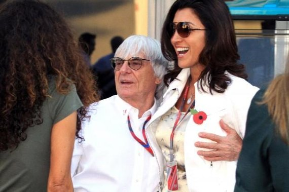 Bernie Ecclestone'as ir jo naujoji žmona Fabiana Flosi