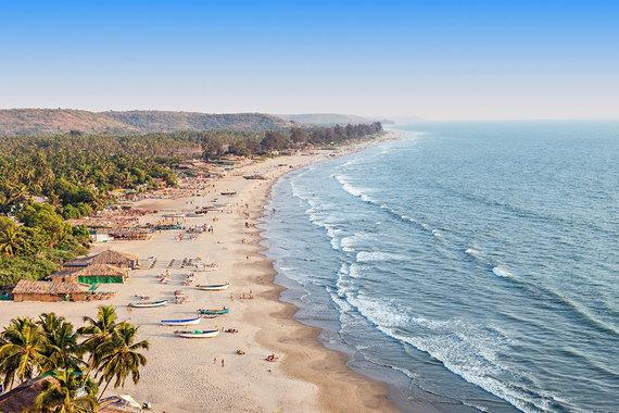 Shutterstock.com nuotr./Paplūdimys Goa regione