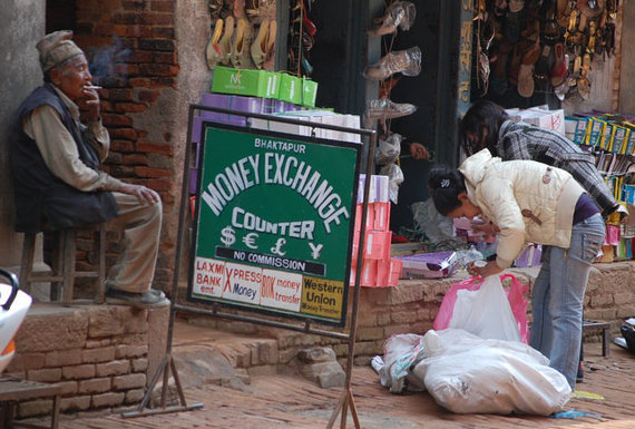 Eglės Zicari nuotr./Valiutos keitykla Nepale